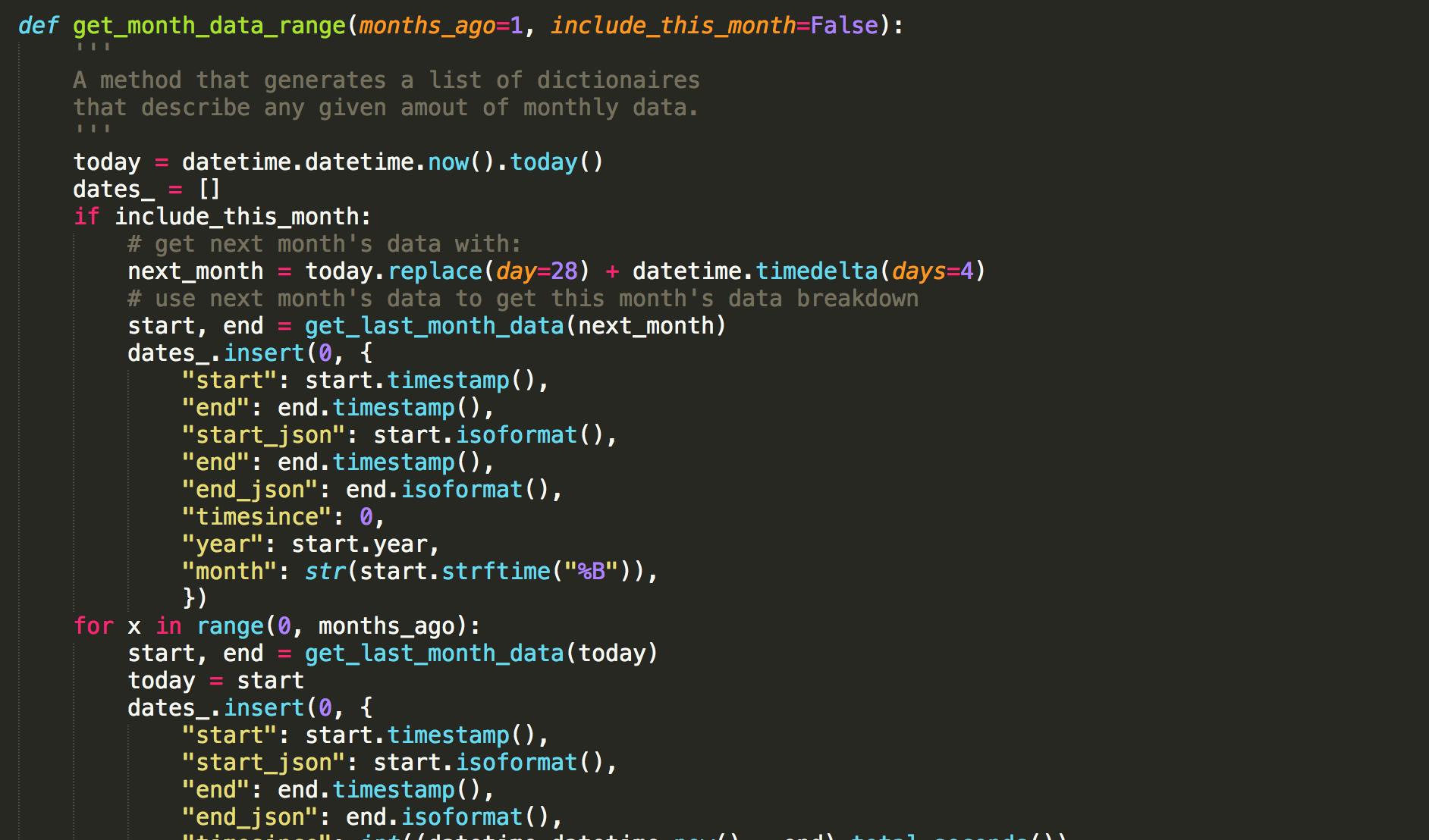 Python Datetime Get Month Ranges | Post | Coding For