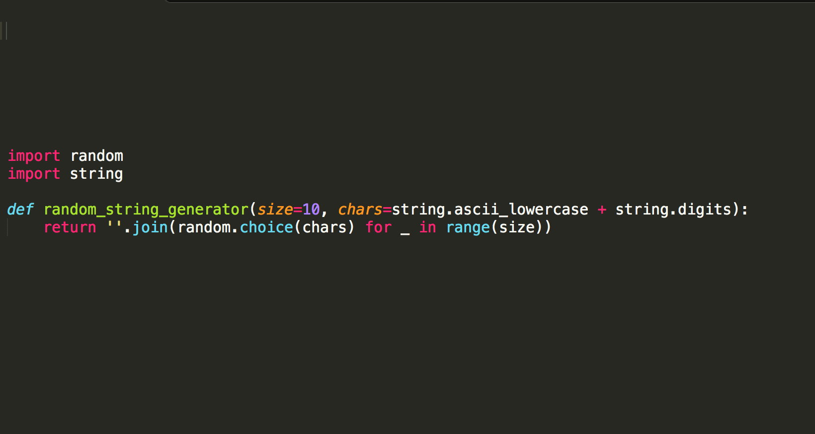 Random String Generator in Python | Post | Coding For