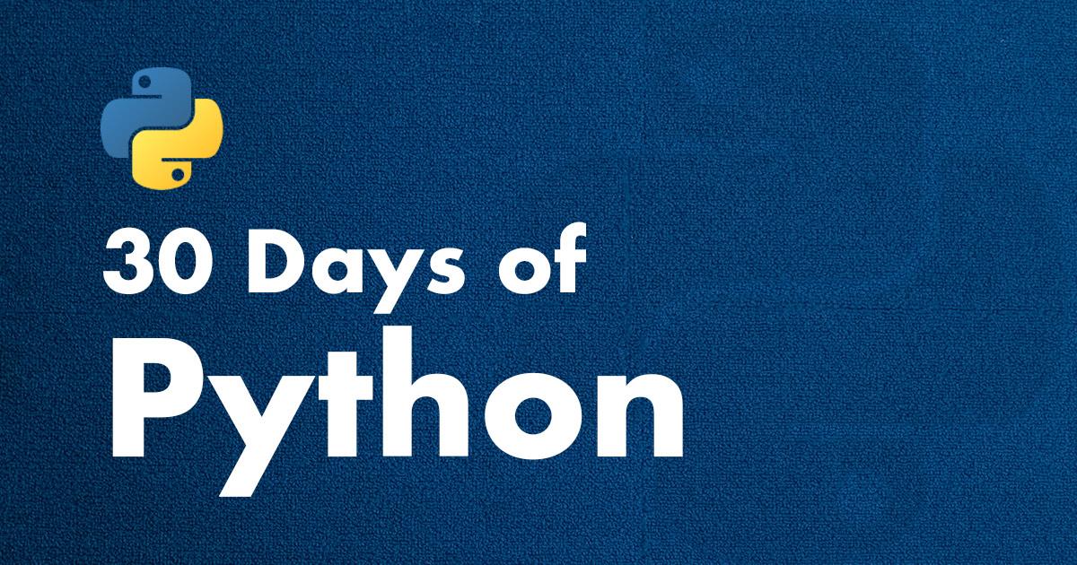 30 Days of Python Logo